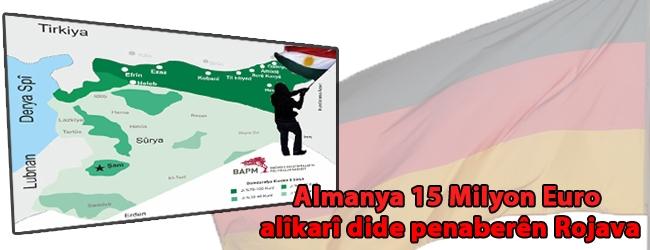 Almanya 15 Milyon EURO alîkarî dide penaberên Rojava