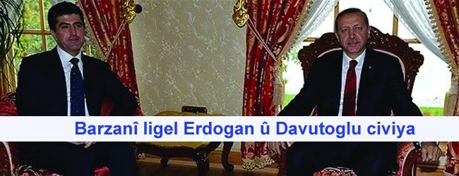 Barzanî ligel Erdogan û Davutoglu civiya
