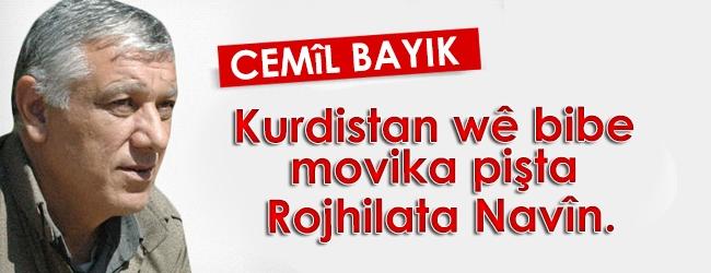 Bayik: Kurdistan wê bibe movika pişta Rojhilata Navîn.