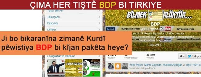 Çima her tiştê BDP'yê bi zimanê Tirkî ye?