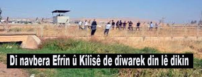 Di navbera Efrîn û Kîlîsê de dîwarek din lê dikin