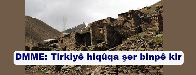 DMME: Tirkiyê hiqûqa şer binpê kir