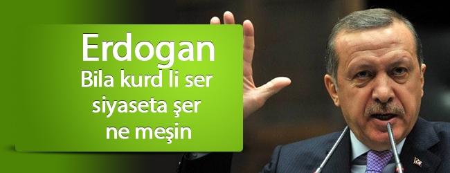 Erdogan: Bila kurd li ser siyaseta şer ne meşin