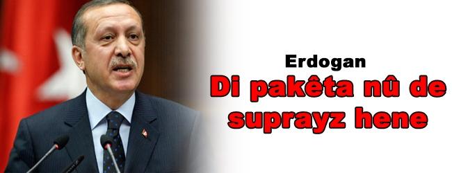 Erdogan: Di pakêta nû de suprayz hene