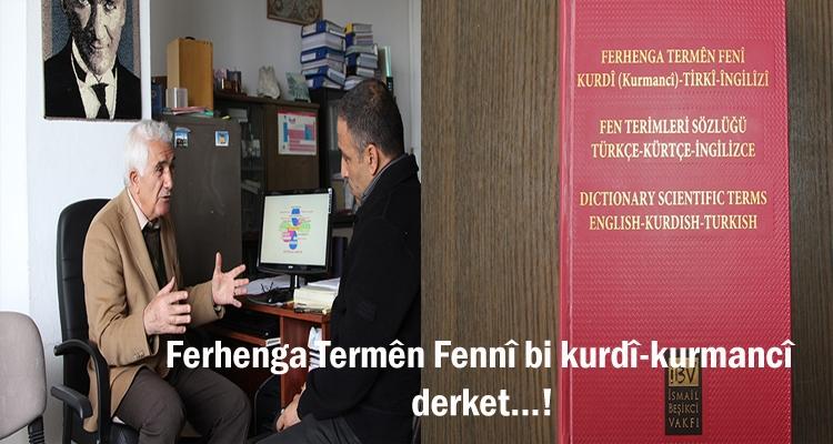 Ferhenga termên fennî bi kurdî derket…!