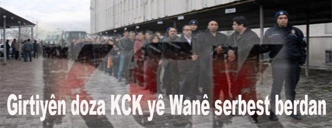 Girtiyên doza KCK yê Wanê serbest berdan