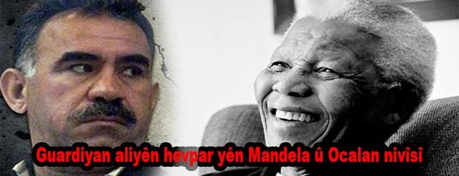 Guardiyan aliyên hevpar yên Mandela û Ocalan nivîsî