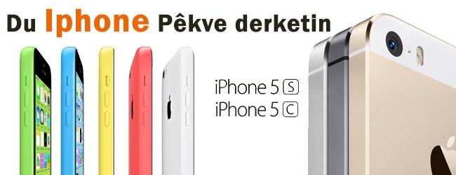 Iphone 5s û Iphone 5C pêkve derketin