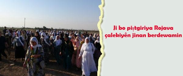 Ji bo piştgiriya Rojava çalakiyên jinan berdewamin