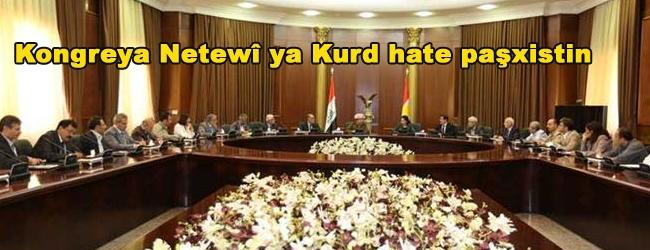 Kongreya Netewî ya Kurd hate paşxistin