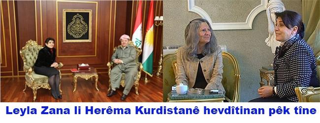 Leyla Zana li Herêma Kurdistanê hevdîtinan pêk tîne