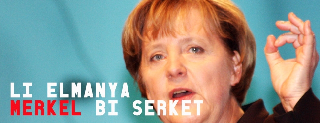 Li Almanya Merkel bi serkeft