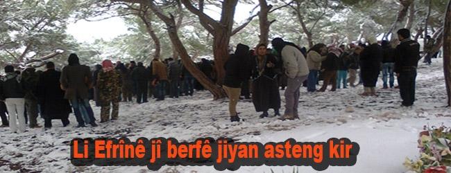Li Efrînê jî berfê jiyan asteng kir