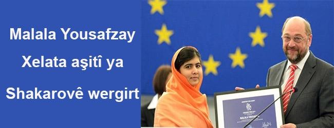 Malala Yousafzay xelata Sakharov' ê wergirt