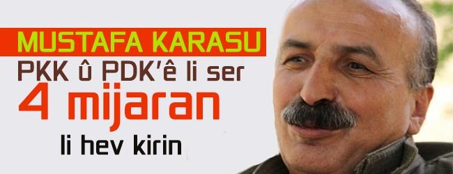 Mustafa Karasu: PKK û PDK'ê li ser 4 mijaran li hev kirin