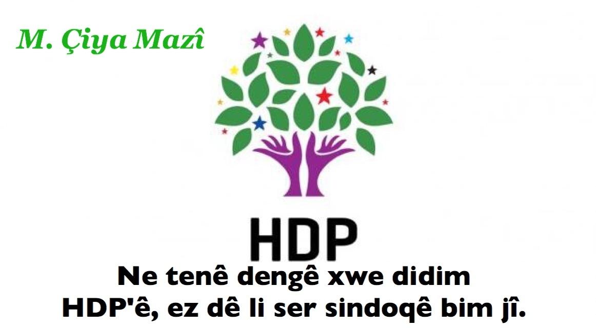 Ne tenê dengê xwe didim HDP'ê, ez dê li ser sindoqê bim jî.