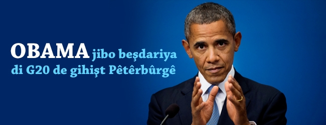 Obama jibo beşdariya di G20 de gihişt Pêtêrbûrgê