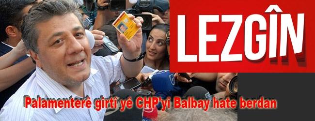 Palamenterê girtî yê CHP'yî Balbay hate berdan