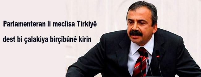 Parlamenteran li meclîsa Tirkiyê dest bi çalakiya birçîbûnê kirin
