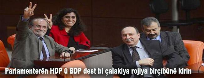 Parlamenterên HDP û BDP dest bi çalakiya rojiya birçîbûnê kirin