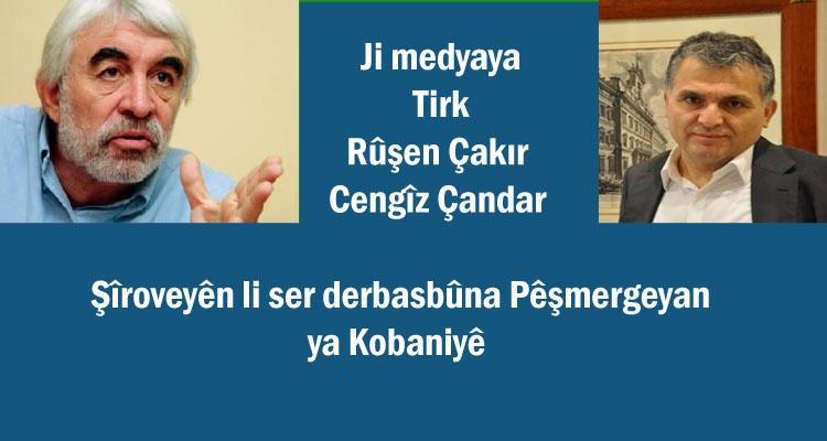 """Pêşmerge li Kobaniyê ye; Enqere bi awayê """"dîrokî"""" di """"Ofsayt""""ê de ye…"""
