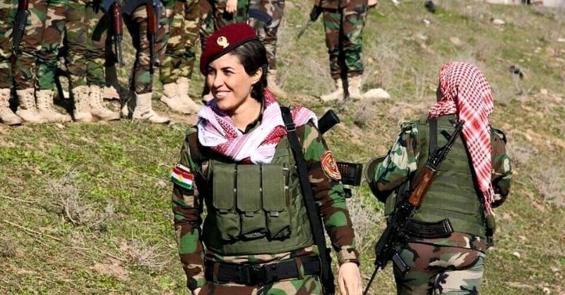 Pêşmergeyeka Kurd, yek ji 6 kesên cîhanê yên li dijî tund û tûjîyê hate hilbijartin