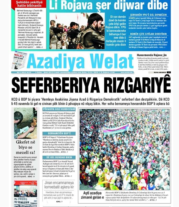 Rojnameya Azadiya Welat