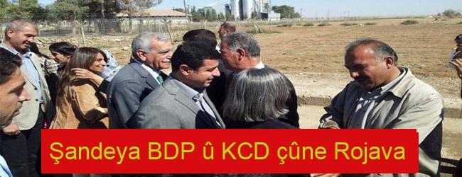 Şandeya BDP û KCD çûne Rojava
