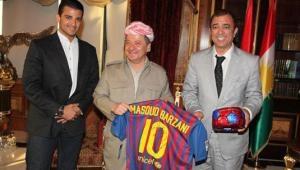 Serok Barzanî wê here maça Barcelonayê