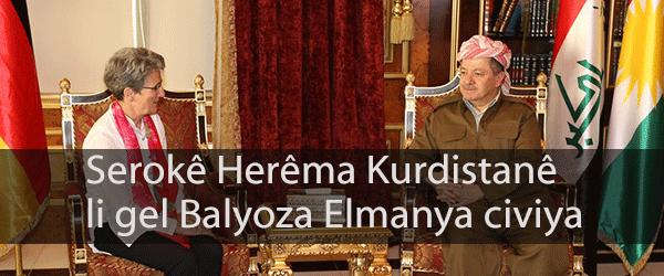 Serokê Herêma Kurdistanê li gel Balyoza Elmanya civiya