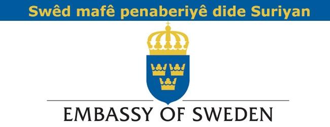 Swêd mafê penaberiyê dide Suriyan
