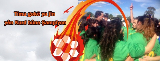 Tîma futbolîstên jin yên Kurd bû şampiyon
