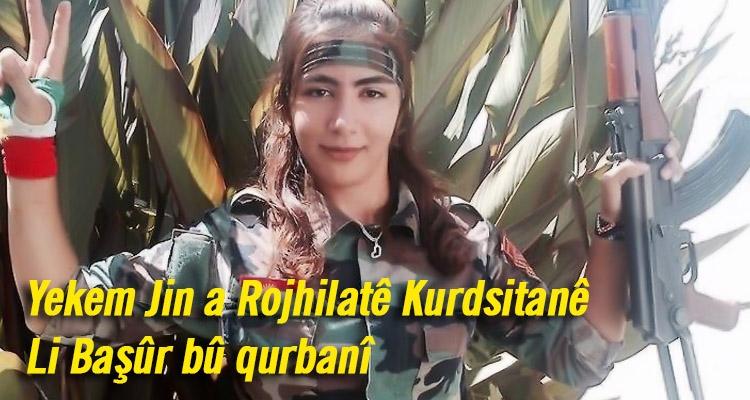 Yekem jin a Rojhilatê Kurdistanê li Başûr bû qurbanî