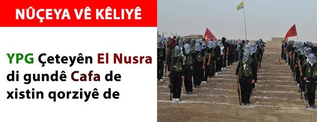 YPG çeteyên El Nusra di gundê Cafa de tengav kirin
